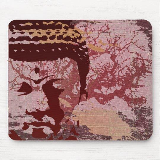 Yoga Speak : Buddha Tree Graphic Mouse Pad