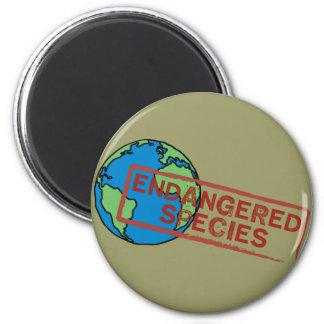 Yoga Speak : EARTH ... Endangered Species! Refrigerator Magnets