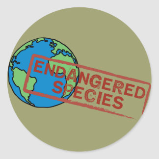 Yoga Speak : EARTH ... Endangered Species! Sticker