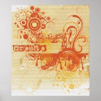 Yoga Speak : Orange Creative Chakra print