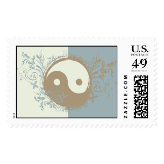 Yoga Speak : Pretty Yin-Yang Symbol Postage