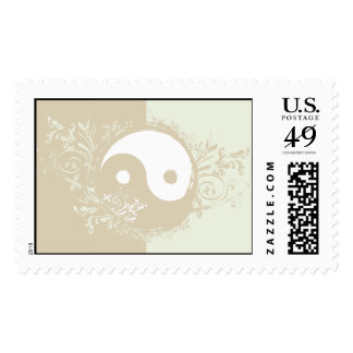 Yoga Speak : Pretty Yin-Yang Symbol Stamp