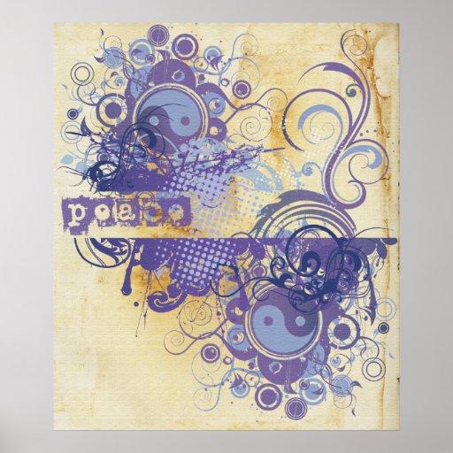 Yoga Speak : Purple Peace Chakra Print