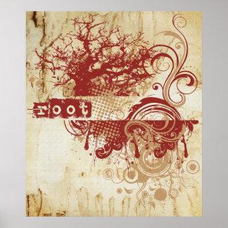 Yoga Speak : Red Root Chakra Poster