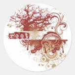 Yoga Speak : Red Root Chakra Round Stickers