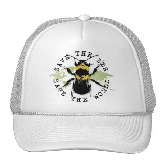 Yoga Speak : Save the Bee...Baseball Cap Trucker Hat