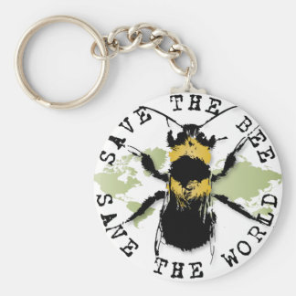 Yoga Speak : Save the Bee...Keychain Keychain