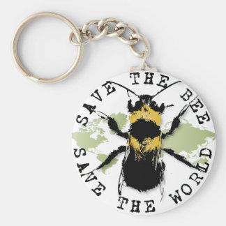 Yoga Speak : Save the Bee...Keychain Keychain