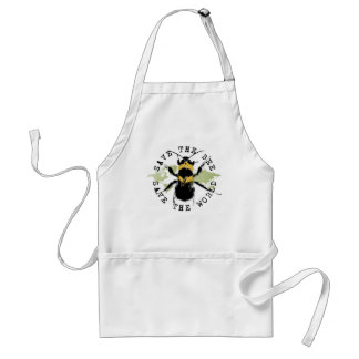 Yoga Speak : Save The Bee ... Save The World! Adult Apron
