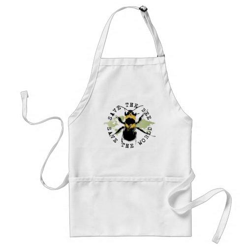 Yoga Speak : Save The Bee ... Save The World! Apron