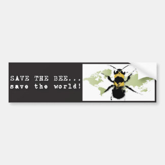Yoga Speak : Save the Bee ... Save the World! Car Bumper Sticker
