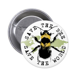 Yoga Speak : Save the Bee ... Save the World! Button