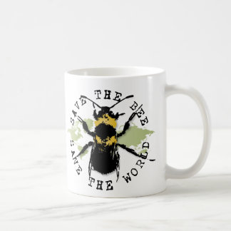 Yoga Speak : Save The Bee ... Save The World! Coffee Mug