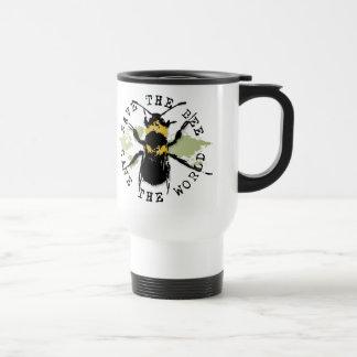 Yoga Speak : Save The Bee ... Save The World! Travel Mug