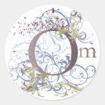Yoga Speak : Swirling Om Design Classic Round Sticker