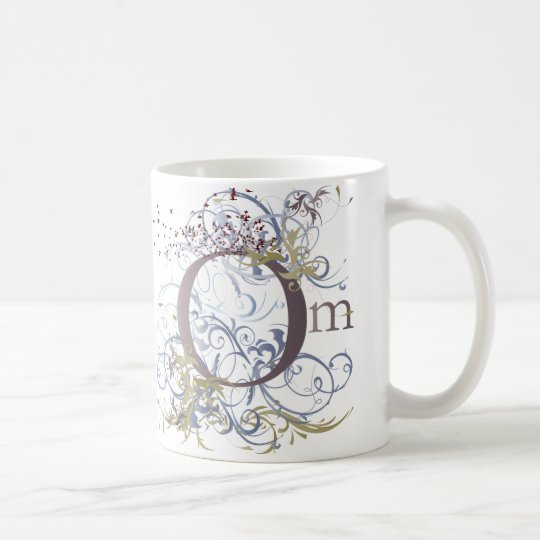 Yoga Speak : Swirling Om Design Coffee Mug