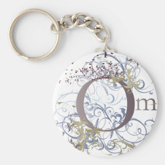 Yoga Speak : Swirling Om Design Keychain