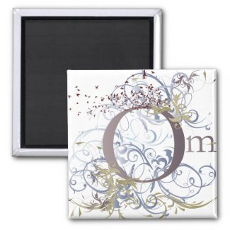Yoga Speak : Swirling Om Design magnet