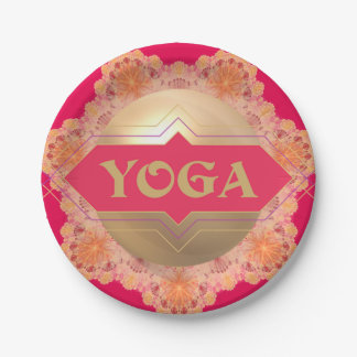 Yoga Spirit paper plate