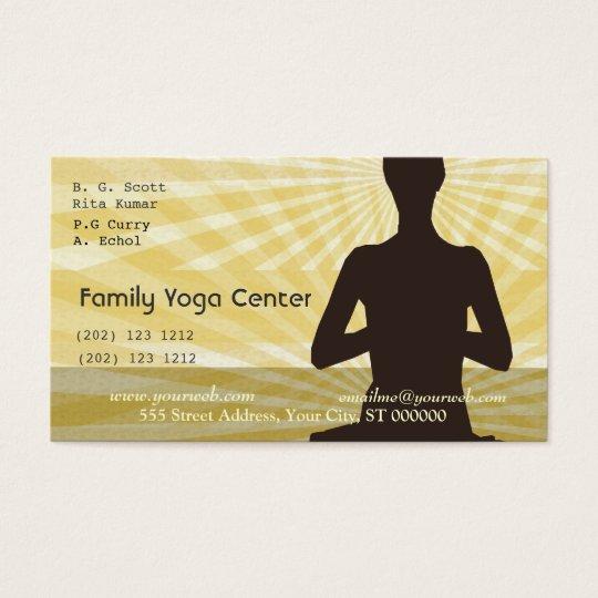 Yoga Spiritual Meditation Salutations Business Card