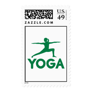 Yoga sports woman stamp