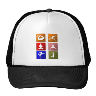 Yoga Stretch Exercising Trucker Hat