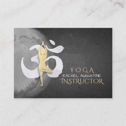 YOGA Studio Appointment Meditation Pose OM Symbol