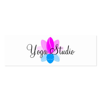 Yoga Studio Double-Sided Mini Business Cards (Pack Of 20)