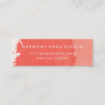 Yoga Studio Business Card Coral Brush Stroke