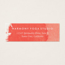 Yoga Studio Business Card Coral Brush Stroke
