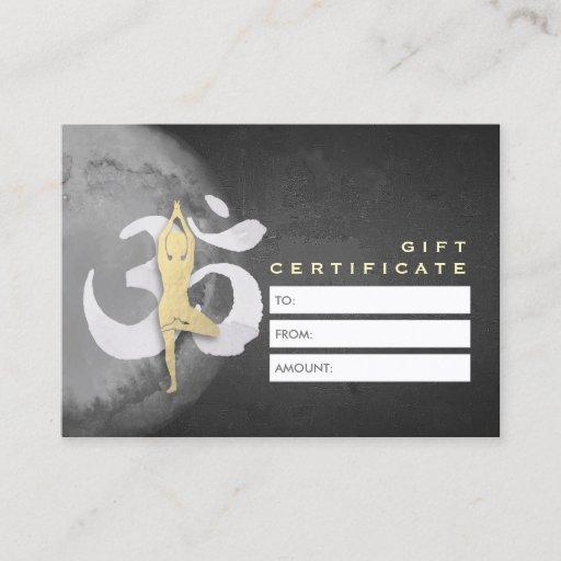 YOGA Studio Gift Certificate Meditation Posture OM