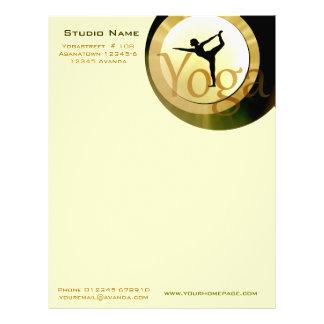 Yoga Studio letter Paper Letterhead Design