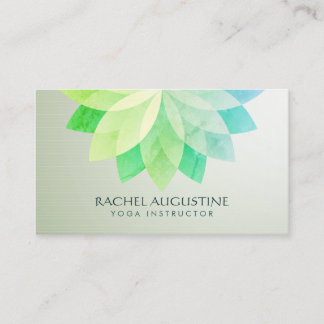 YOGA Studio Meditation Instructor Colorful Mandala Business Card