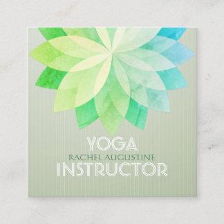 YOGA Studio Meditation Instructor Colorful Mandala Square Business Card