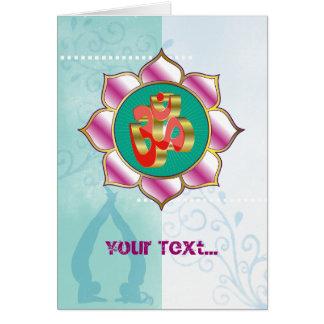 Yoga Studio OM - Greeting Card
