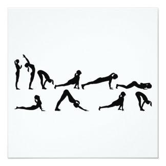 Yoga sun salutation card