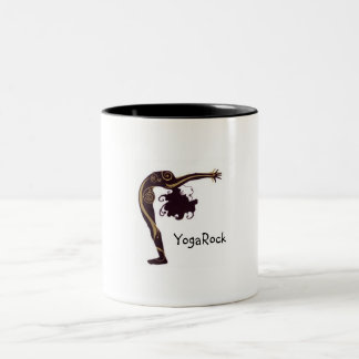 Yoga sun salutation Two-Tone coffee mug