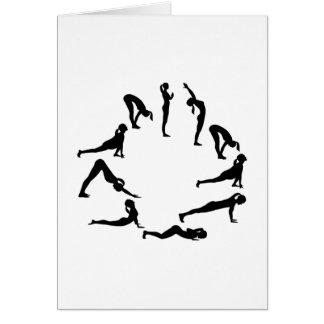 Yoga sun salute card