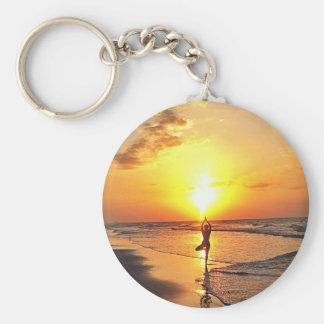 Yoga Sunrise Keychain