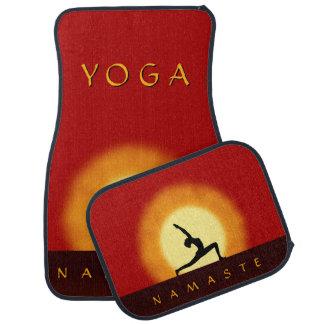 Yoga Sunrise Pose Front & Back Car Floor Mats Set Floor Mat