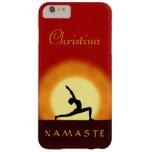 Yoga Sunrise Pose Namaste Slim iPhone 6 Plus Cases Barely There iPhone 6 Plus Case