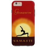 Yoga Sunrise Pose Namaste Tough iPhone 6 Plus Case