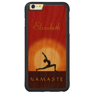 Yoga Sunrise Pose Namaste Wooden iPhone 6 6S Plus Carved Cherry iPhone 6 Plus Bumper Case