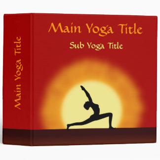 Yoga Sunrise Pose Silhouette 2 Inch 3 Ring Binders