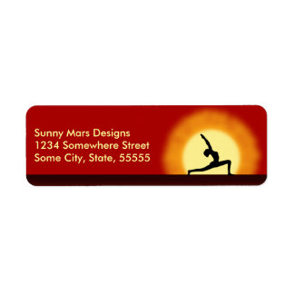 Yoga Sunrise Pose Silhouette Return Address Labels