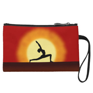 Yoga Sunrise Pose Silhouette Small Clutch Purse