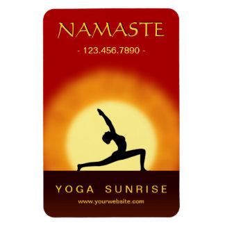 Yoga Sunrise Pose Yoga Studio Large Flexi Magnets Rectangle Magnet