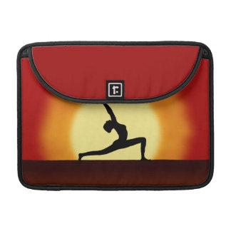 Yoga Sunrise Silhouette 13 Inch Macbook Pro Sleeve
