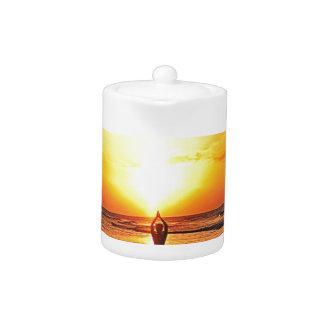 Yoga Sunrise Teapot