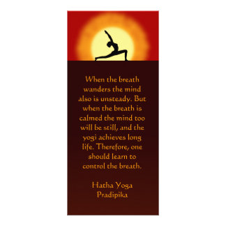 Yoga Sunrise Yoga Instructor Teacher Rack Cards